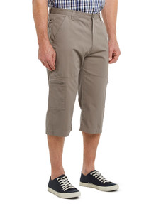 Savane Savane Flat Front Three Quarter Canvas Pant, Putty product photo