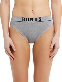 Bonds Retro Rib Hi-Leg Brief, Grey Marle product photo