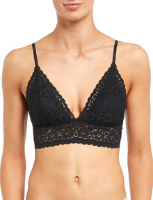 Bonds Intimately Longline Triangle Padded Bra, Black, 8-16 product photo