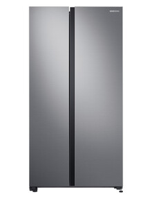 Samsung 696L Side by Side Fridge Freezer, Matte Silver, SRS694NLS product photo