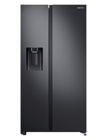 Samsung 676L Side by Side Fridge Freezer, Matte Black, SRS672DMB product photo