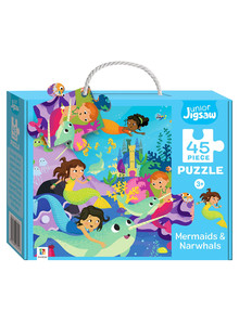 Junior Jigsaw Junior Jigsaw Small, Mermaids & Narwhals product photo