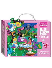 Junior Jigsaw Junior Jigsaw Small, Dragons & Princesses product photo
