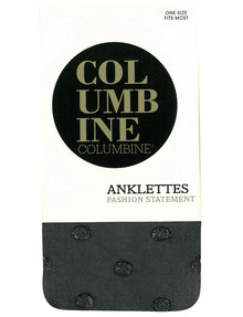 Columbine Glitter Spot Anklet, Silver & Black product photo