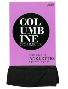 Columbine Plus Opaque Anklet, 50D, Black product photo