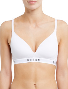 Bonds Originals Triangle SC Bra, White, A-DD Cup product photo