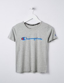 Champion Script Print Tee, Grey product photo