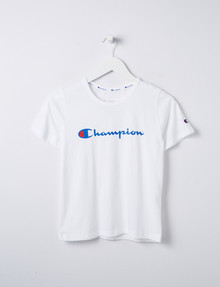 Champion Script Print Tee, White product photo