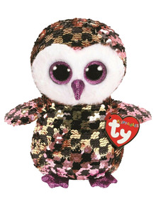 Ty Beanies Sequin Flippable Checks Owl product photo
