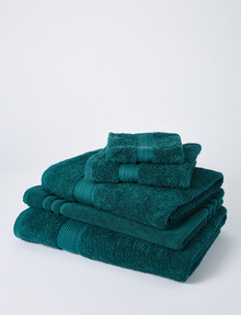 Linen House Newport Hand Towel, Forest Green product photo