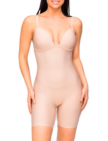 Nancy Ganz Body Define Backless Bodysuit, Taupe product photo