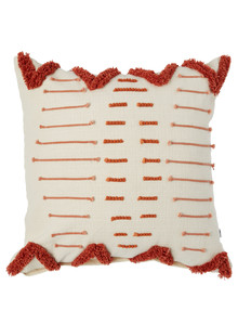 Your Home And Garden Tuscany Tufted Square Cushion, Rust product photo
