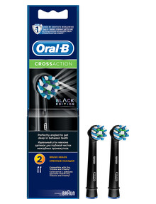 Oral B Cross Action Toothbrush Refills, 2-Pack, Black product photo