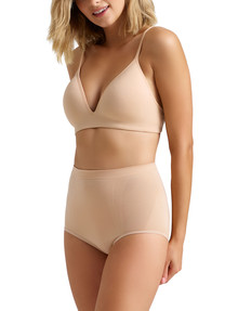 Ambra Killer Figure High-Cut Control Brief, Rose Beige product photo