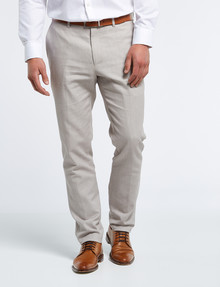 Laidlaw + Leeds Tailored Linen Blend Pant, Sand product photo