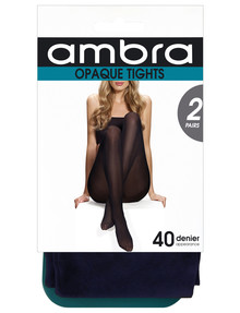 Ambra Navy Opaque Tight, 40 Denier, 2 Pack product photo