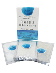 Organik Botanik Aust Fancy Feet Pamper Pack, Peppermint Aloe Vera product photo