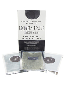 Organik Botanik Aust Recovery Rescue Pamper Pack Hair & Face, Charcoal & Mint product photo