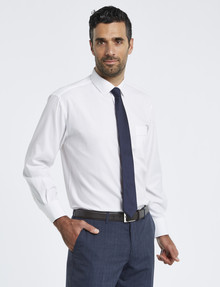 Van Heusen Long-Sleeve Dobby Stripe Shirt, Classic Fit, White product photo