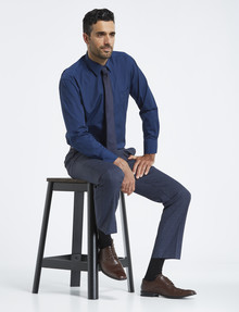 Van Heusen Long-Sleeve Poplin Shirt, Classic Fit, Navy product photo