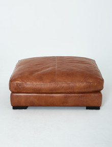 Luca Jenson Ottoman, Cognac product photo