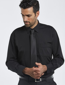 Van Heusen Long-Sleeve Poplin Shirt, Classic Fit, Black product photo