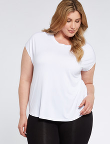 Bodycode Curve Crew Neck Boxy Tee, White product photo