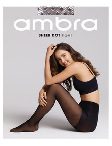 Ambra Sheer Dot Tight, Black product photo