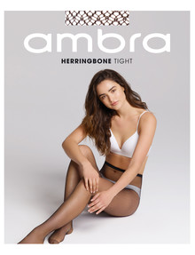 Ambra Herringbone Net Tight, Black product photo