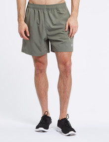 Gym Equipment Microfibre Stretch Short with Side Panel, Khaki product photo
