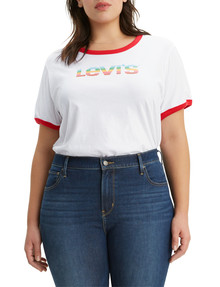 Levis Plus Graphic Ringer Tee, White product photo