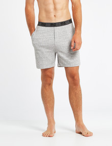 Mazzoni Loungewear Soft-Touch Cotton-Modal Short, Grey Marle product photo