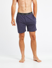 Mazzoni Loungewear Soft-Touch Cotton-Modal Short, Navy Marle product photo