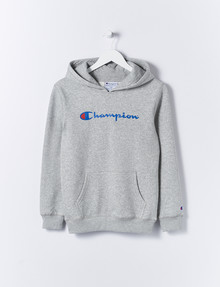 Champion Script Hoodie, Oxford Heather product photo