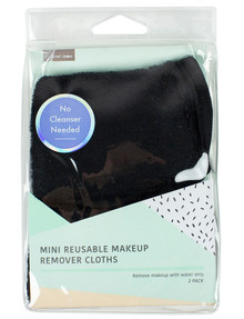 Simply Essential Mini Reuseable Makeup Remover Cloths 2-pack product photo