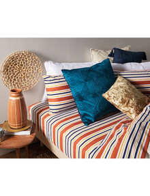 Your Home And Garden Scarlett Stripe Flat Sheet, Super King product photo