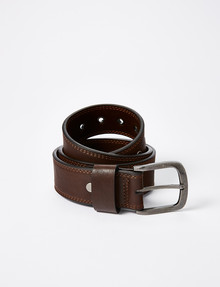 Chisel Heavy Duty Work Belt, Brown product photo