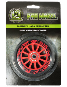 MADD 100mm Pro Plastic Wheel, Red product photo