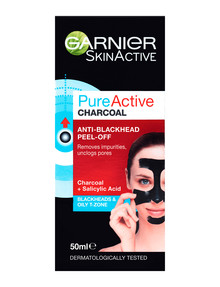 Garnier Pure Active Charcoal Anti Blackhead Peel Off Mask product photo