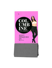 Columbine Plus Soft Opaque Tight, 50D, Mid-Grey product photo