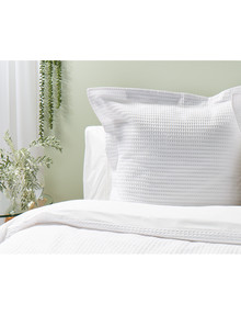 Kate Reed Waffle Euro Pillowcase, White product photo