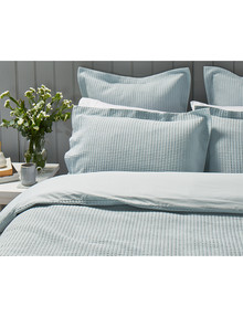 Kate Reed Waffle Duvet Cover Set, Duckegg product photo