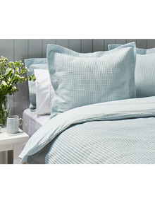 Kate Reed Waffle Euro Pillowcase, Duckegg product photo