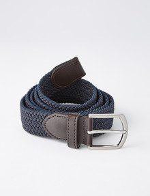 Chisel Dual Stretch 35mm Belt, Navy & Brown product photo