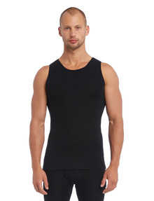 Superfit Merino Rib Singlet, Black product photo
