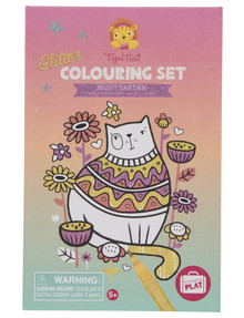 Tiger Tribe Glitter Colouring Night Garden product photo