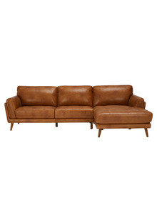 LUCA Hendrix II 2.5 Seater Sofa with Right-Hand Chaise, Cognac product photo