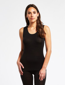 Lyric Thermals Melody Merino Singlet, Black product photo