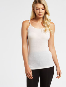 Lyric Thermals Melody Merino Cami Top, Ivory product photo