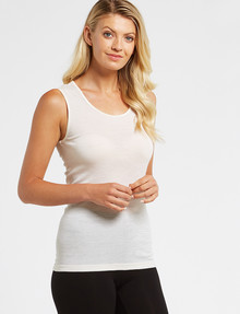 Lyric Thermals Melody Merino Singlet, Ivory product photo
